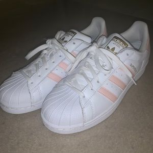 adidas Shoes - Adidas Pink and White Superstars